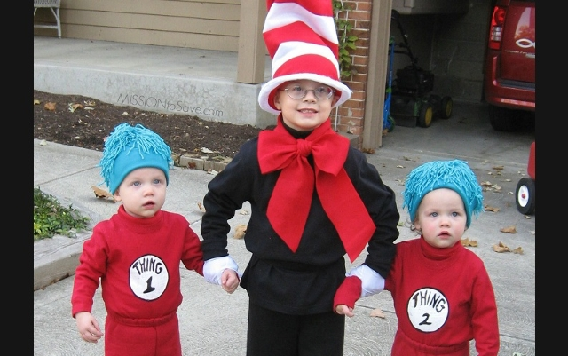 Thing 1 and Thing 2 costume/Cat in the Hat costume