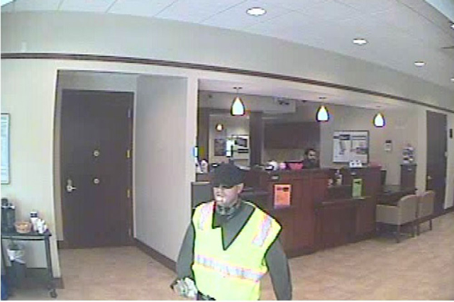 Henderson police are looking for this suspect in a bank robbery on Wednesday, Sept. 30, 2015. (Henderson Police Department)