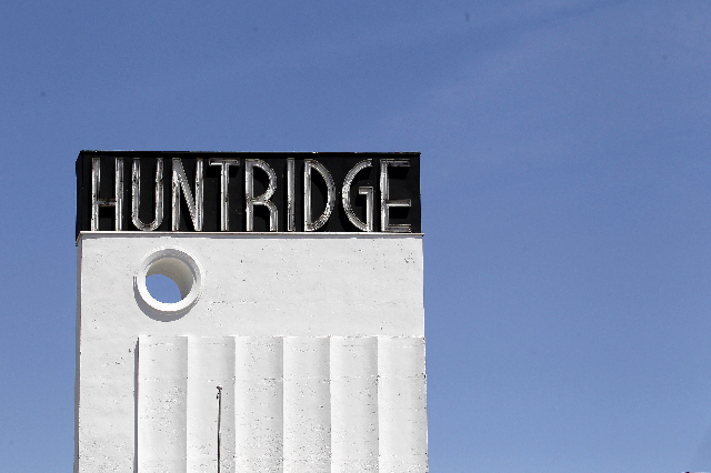 The sign for the Huntridge Theater in Las Vegas on Monday, May 19, 2014.  (Justin Yurkanin/Las Vegas Review-Journal)