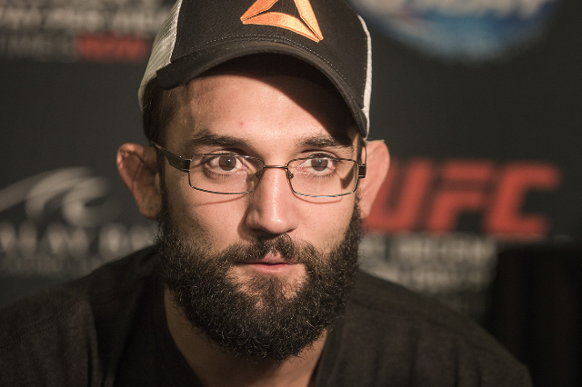 Johny Hendricks during Media Day at the  MGM Grand on Thursday, Dec. 03, 2014. He will be fighting Robbie Lawler in the UFC Welterweight title at the MGM on Saturday.(Jeff Scheid/Las Vegas Review- ...