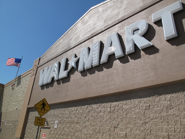 (FILE PHOTO) An exterior image of a Walmart store in Turnersville, New Jersey.