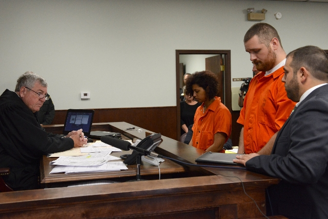 Joseph Irwin (right) and Sarah Ferguson (left) appears in court on October, 15, 2015, after the fatal beating of Lucas Leonard in the sanctuary of Word of Life Christian Church in Hartford, New Yo ...