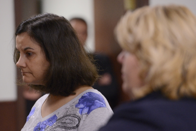 Linda Morey appears in court on October, 15, 2015, after the fatal beating of Lucas Leonard in the sanctuary of Word of Life Christian Church in Hartford, New York. (CNN)