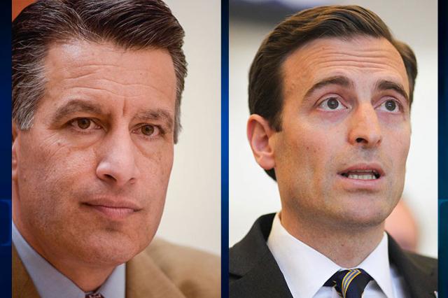 Gov. Brian Sandoval, left, and Nevada Attorney General Adam Laxalt