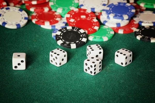 Casino chips and dice (Thinkstock)