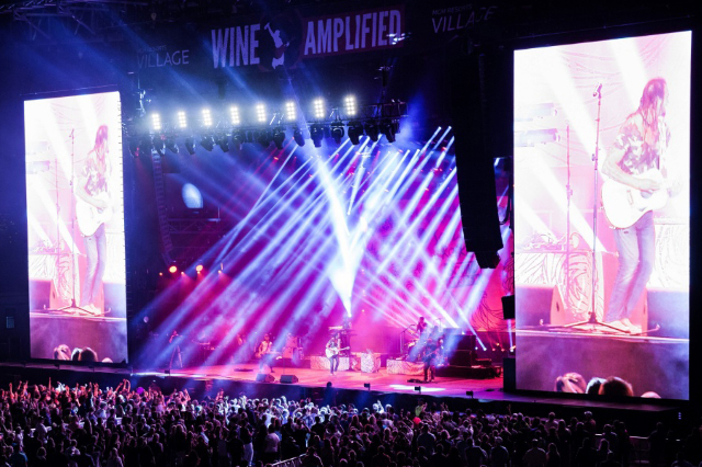 """The """"Wine Amplified"""" stage in 2014 at MGM. (Wine Amplified)"""