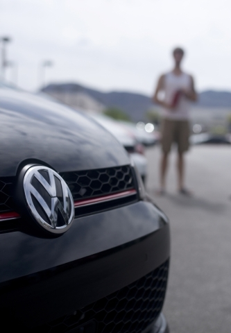 Jordan Bowers looks at vehicles at the Findlay Volkswagen dealership in the Valley Auto Mall in Henderson on Tuesday, Sept. 22, 2015. Daniel Clark/Las Vegas Review-Journal