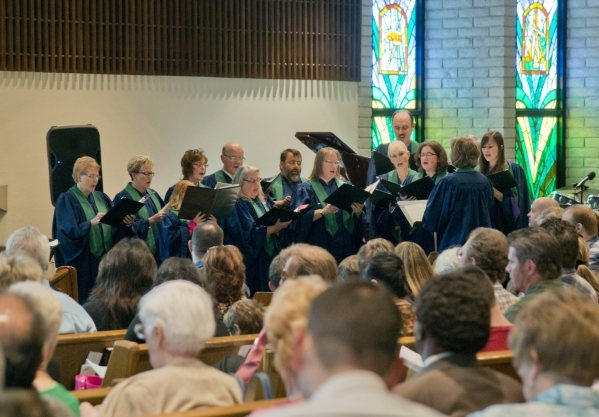 Members of the First Good Shepherd Lutheran Church choir sing during services celebrating their 75th anniversary on Sunday, Oct. 18, 2015. Daniel Clark/Las Vegas Review-Journal