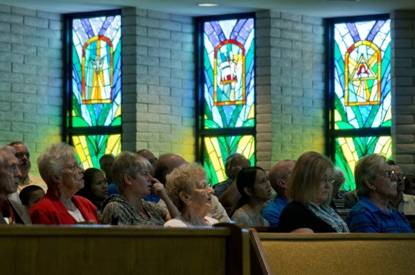 Members of First Good Shepherd Lutheran Church are seen during services celebrating their 75th anniversary on Sunday, Oct. 18, 2015. Daniel Clark/Las Vegas Review-Journal