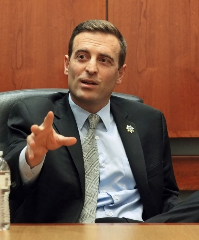 Nevada Attorney General Adam Laxalt speaks with the Las Vegas Review-Journal editorial board at the Review-Journal offices in Las Vegas Friday, Oct. 23, 2015. Jerry Henkel/Las Vegas Review-Journal