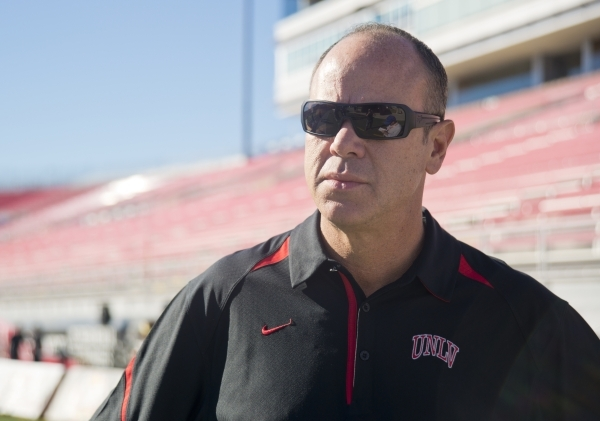 IMG general manager Eric Kovac is seen inside Sam Boyd Stadium before the game against Boise State on Saturday, Oct. 31, 2015. A number of sponsors have signed up or increased their commitments th ...