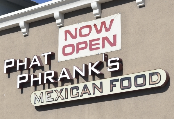 The exterior of Phat Phranks is shown at 4850 W. Sunset Road in Las Vegas on Friday, Oct. 30, 2015. Bill Hughes/Las Vegas Review-Journal