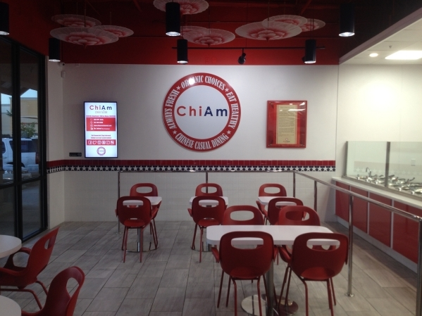 The interior of ChiAm is shown at 6010 W. Craig Road, No. 150, Oct. 23. ChiAm is a fast-casual, American-Chinese restaurant specializing in dim sum that prides itself on its variety of organic and ...