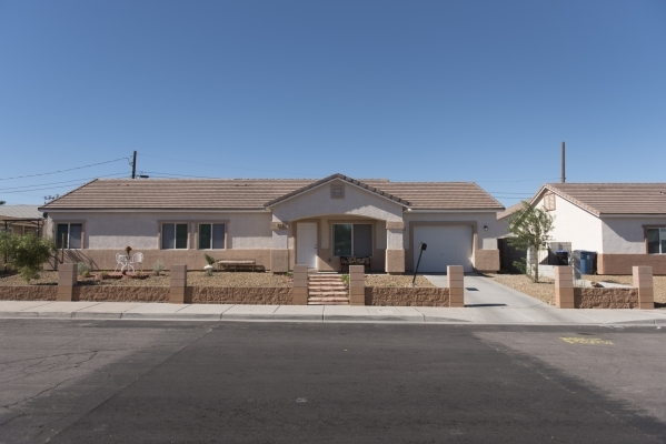 Homes built by Habitat for Humanity near the intersection of Merlayne Drive and Merze Ave. in Henderson are shown Friday, Oct. 30, 2015. Jason Ogulnik/Las Vegas Review-Journal