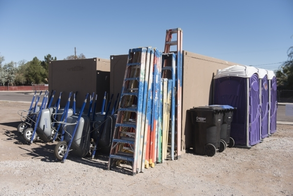 A lot and tools used by Habitat for Humanity near the intersection of Merlayne Drive and Merze Ave. in Henderson are shown Friday, Oct. 30, 2015. Jason Ogulnik/Las Vegas Review-Journal