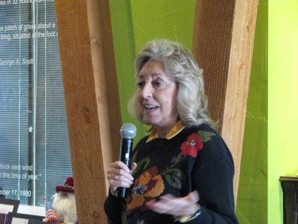 Congresswwoman Dina Titus was on of the speakers at the unveiling ceremony of a plaque honoring Helen Stewart on Oct. 31, 2015 at the Old Las Vegas Mormon Fort, 500 E. Washington Ave.  (F. Andrew  ...