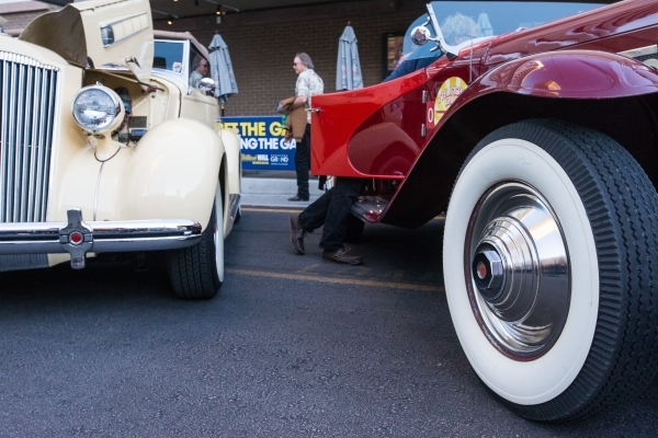 Rare Vintage Cars Roll Into Downtown Las Vegas Photos Las