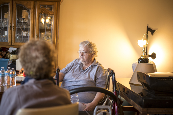Marsha Rodriguez, an elderly disabled woman who receives medical services from the state, is interviewed in her home in Las Vegas on Tuesday, Nov. 3, 2015. Joshua Dahl/Las Vegas Review-Journal