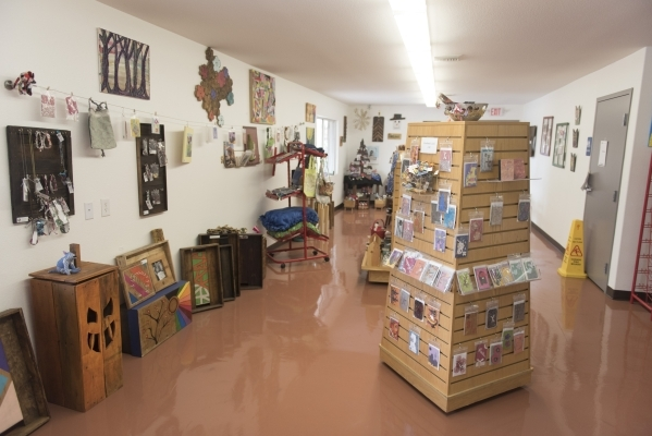 The gift store at the new Transition Services Inc. facility at 6100 W. Cheyenne Ave. in Las Vegas is shown Wednesday, Nov. 4, 2015. Jason Ogulnik/Las Vegas Review-Journal
