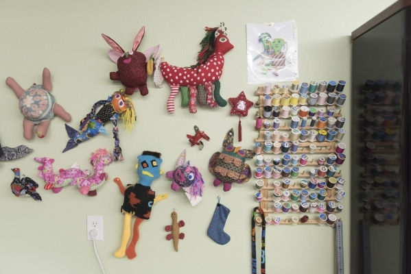 The stuffed animal making workstation is shown at the new Transition Services Inc. facility at 6100 W. Cheyenne Ave. in Las Vegas Wednesday, Nov. 4, 2015. Jason Ogulnik/Las Vegas Review-Journal