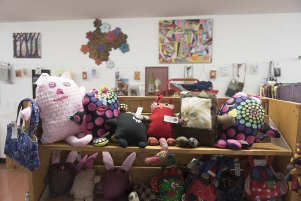 Crafts are displayed at the gift store at the new Transition Services Inc. facility at 6100 W. Cheyenne Ave. in Las Vegas Wednesday, Nov. 4, 2015. Jason Ogulnik/Las Vegas Review-Journal