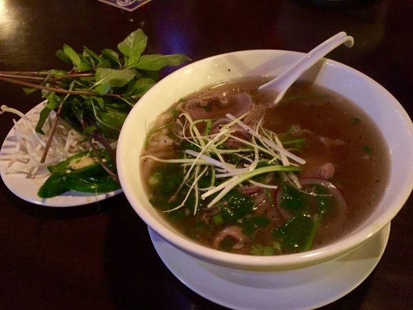 District One Kitchen & Bar, 3400 S. Jones Blvd., Suite 8, offers a variety of Asian dishes, such as the Pho Tai Nam (ribeye and flank steaks in rice noodle soup topped with cilantro and red an ...