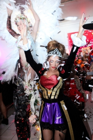 Farrah Abraham partying at Ghostbar Dayclub during a Halloween party Saturday. (Joe Fury)