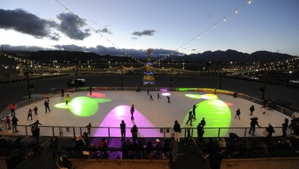 The Rock Rink, the 60-foot by 120-foot public skating rink at Downtown Summerlin, 1980 Festival Plaza Drive, is set to be open daily starting Nov. 20 near the Pavilion. (View file photo)