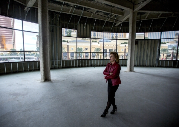 Michelle Knoll, senior vice president of advertising and public relations in the site of of the proposed Marvel Comics store on Tuesday, Nov. 10, 2015. The Treasure Island announced that  Marvel C ...