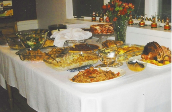 The holiday spread at Wes Winters east valley home. (Specail to View)