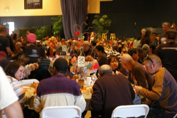 Attendees dine at the 2014 Blessfest at Calvary Chael Spring Valley. (Special to View)