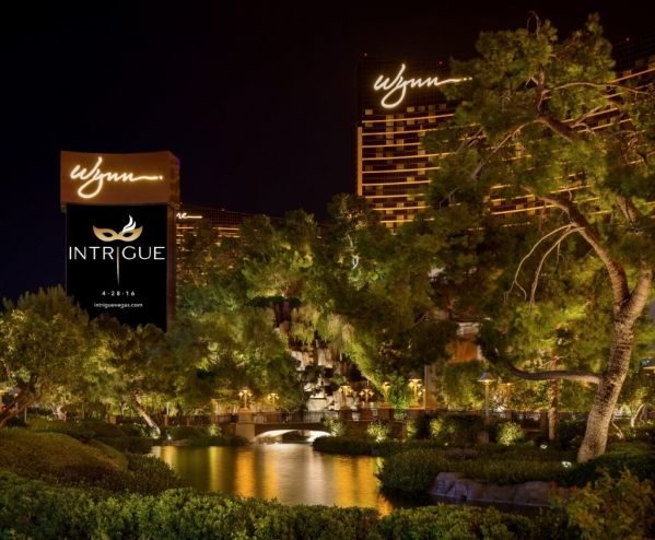Wynn Las Vegas tries out the name of its new club, Intrigue, on its sign. The new nightclub is slated to open in April. (Courtesy of Wynn)