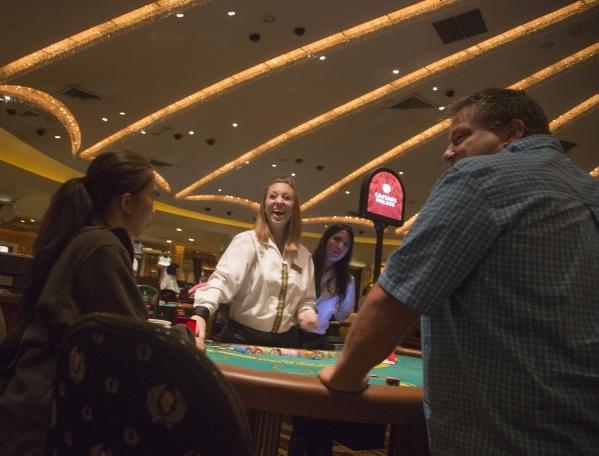 Britnee Deel deals cards at a $50 table at Caesars Palace, 3570 S. Las Vegas Boulevard  on Monday, Nov. 9,2015 Jeff Scheid/ Las Vegas Review-Journal Follow @jlscheid