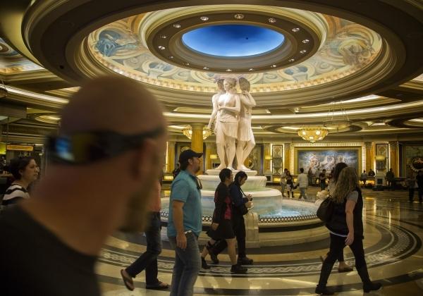 People walk in the entrance at Caesars Palace, 3570 S. Las Vegas Boulevard  on Monday, Nov. 9,2015 Jeff Scheid/ Las Vegas Review-Journal Follow @jlscheid