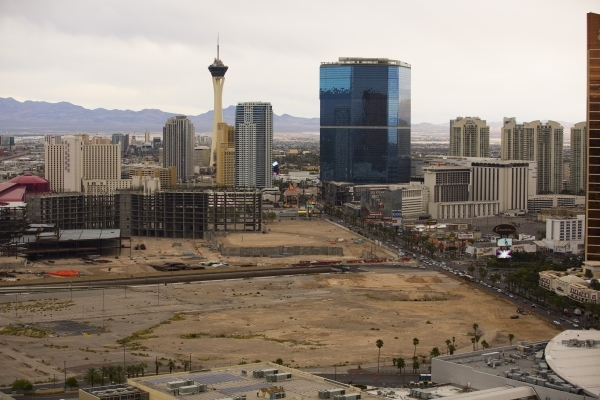A view of the north Strip taken from Treasure Island, 3300 Las Vegas Boulevard South, on Tuesday, Nov. 10, 2015. (Jeff Scheid/ Las Vegas Review-Journal) Follow