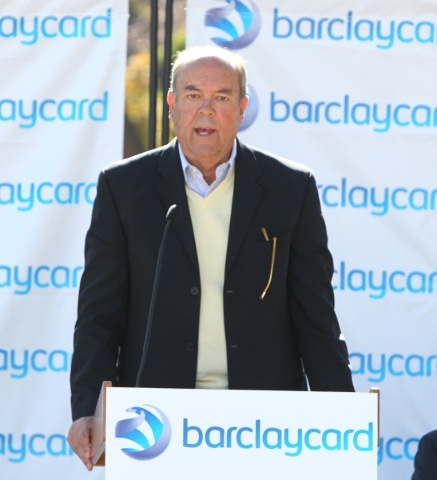 Henderson city council, John Marz speaks during a special event outside the newly built 35,000-square-foot building at 2290 Corporate Circle on Thursday, Nov. 12, 2015 in Henderson. Bizuayehu Tesf ...