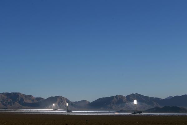 The Ivanpah Solar Power Facility is seen in Nipton, Calif., just south of Primm Wednesday, June 17, 2015.  (Sam Morris/Las Vegas Review-Journal) Follow Sam Morris on Twitter @sammorrisRJ