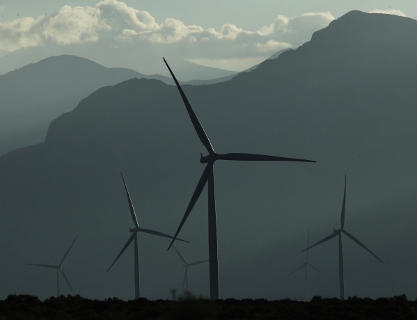 The Spring Valley Wind Farm as seen in the north Spring Valley near Great Basin National Park in eastern Nevada on Thursday morning, Aug. 14, 2014. (Jason Bean/Las Vegas Review-Journal)