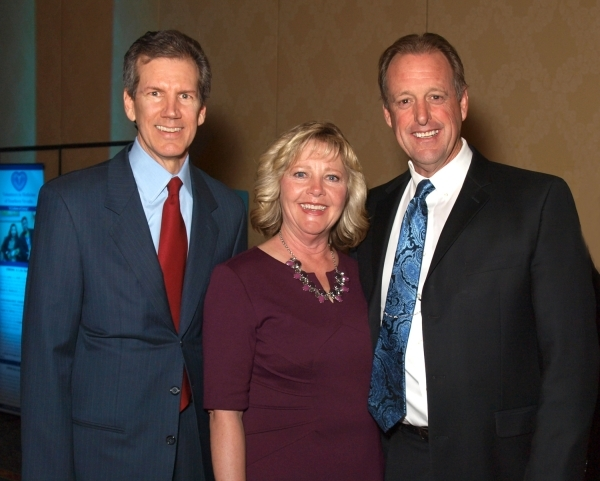 Clark County Regent Mark Doubrava, from left,  Marilyn Lee, and North Las Vegas Mayor John Lee