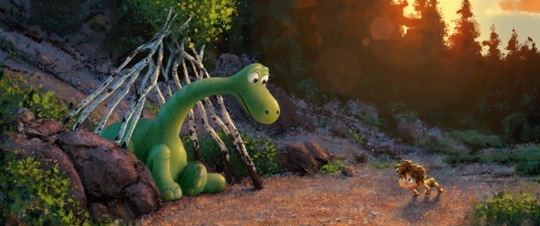 """""""The Good Dinosaur"""" tells the story of Arlo, a lively Apatosaurus with a big heart who sets out on a remarkable journey, gaining an unlikely companion along the wayþÄîa  human b ..."""