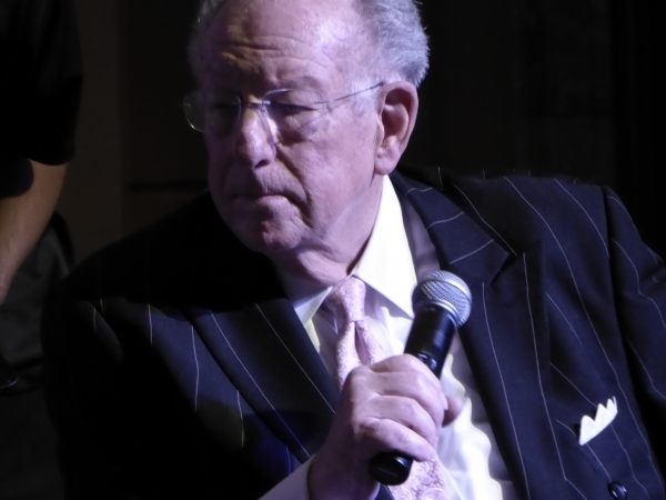 "Former Las Vegas Mayor Oscar Goodman holds the microphone at the Mob Museum during a program focusing on the movie ""Casino"" on Saturday, Nov. 7, 2015. Jane Ann Morrison/Las Vegas Review- ..."
