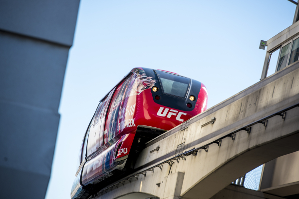 A Las Vegas Monorail arrives at the station at the Westgate hotel-casino in Las Vegas on Friday, Nov. 13, 2015. Joshua Dahl/Las Vegas Review-Journal