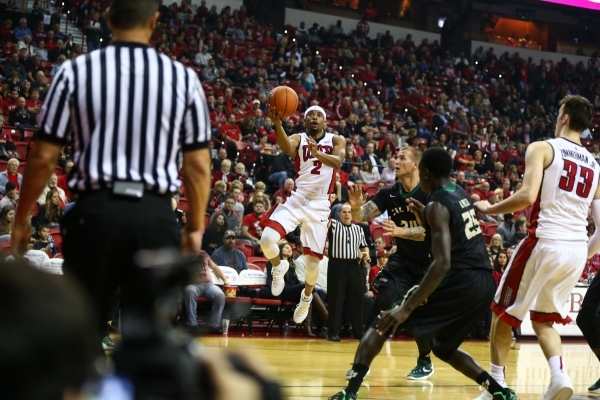 UNLV's Jerome Seagears (2) looks to shoot against Cal Poly during a basketball game at the Thomas & Mack Center in Las Vegas on Friday, Nov. 13, 2015. Chase Stevens/Las Vegas Review-Jour ...