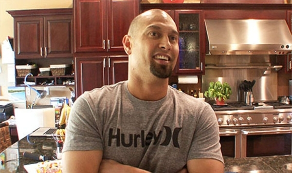 "Anaheim Angels player Shane Victorino talks about being a fan of ""Tanked,"" which airs on Animal Planet. He is in his kitchen in his Red Rock Country Club home he shares with his wife, Me ..."