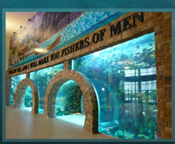 Acrylic Tank Manufacturing builds large aquariums for attractions and businesses.   COURTESY