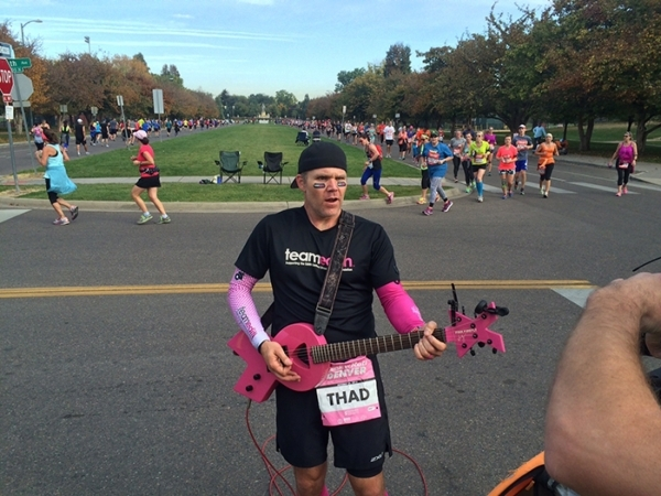 Thad Beaty says one of his most gratifying moments as a musician was playing guitar along the route of the Rock 'n' Roll Denver Half Marathon he ran in October to help raise awareness  ...