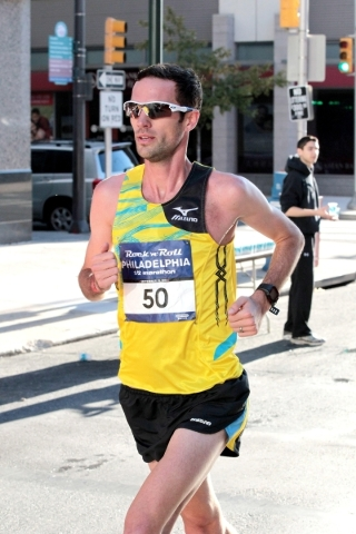 Andrew Lemoncello, a 2008 Olympian in the steeplechase for Great Britain who is the favorite to win Sunday's Rock 'n' Roll Las Vegas Marathon.
