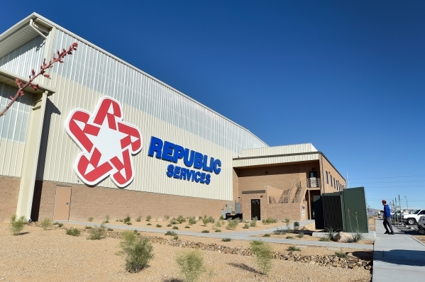 The 110,000 square-foot Southern Nevada Recycling Center by Republic Services is seen in North Las Vegas on Wednesday, Nov. 11, 2015. The $35 million facility, which is set to open within the next ...