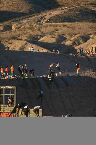 Competitors make their way through the course during the World's Toughest Mudder competition in Lake Las Vegas on Saturday, Nov. 14, 2015. Chase Stevens/Las Vegas Review-Journal Follow @csst ...