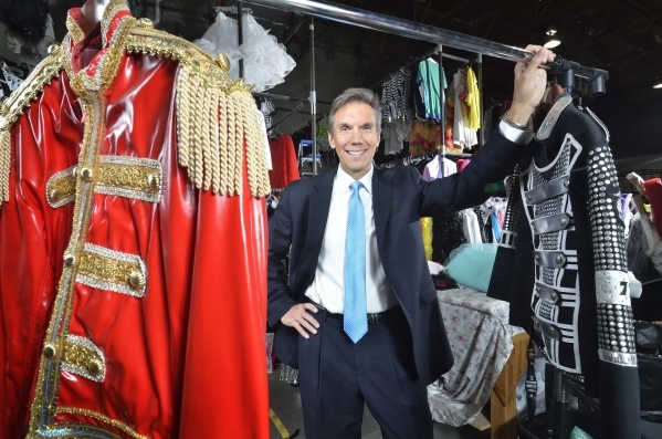 Brian Brigner, chief operating officer for þÄúLegends in Concert,þÄù is shown in the costume warehouse at the Onstage Entertainment offices at 333 Orville Wright Court in Las Veg ...